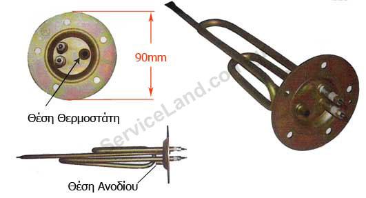 Αντίσταση Θερμοσιφώνου 5 τρύπες-Φ90-1500w